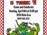 Tmnt Birthday Invites Teenage Mutant Ninja Turtles Birthday Party Invitation