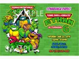 Tmnt Birthday Invites Teenage Mutant Ninja Turtles Birthday Party Invitations