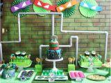 Tmnt Birthday Party Decorations Ninja Turtle Party Ideas Tmnt Moms Munchkins