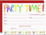 Toddler Birthday Invites Kids Birthday Party Invitation Cards Card Design Ideas