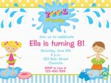 Toddler Birthday Invites Kids Pool Party Invitations Home Party Ideas