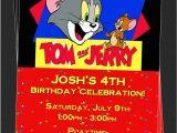 Tom and Jerry Birthday Invitations Custom tom and Jerry Birthday Party Invitations Diy
