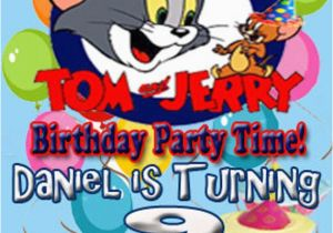 Tom And Jerry Birthday Invitations Personalized Party Invitation Design Digital