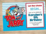 Tom and Jerry Birthday Invitations tom and Jerry Birthday Invitation tom and Jerry Invitation
