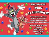 Tom and Jerry Birthday Invitations tom and Jerry Birthday Invitations Drevio Invitations Design