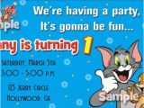 Tom and Jerry Birthday Invitations tom and Jerry Birthday Invitations Eysachsephoto Com