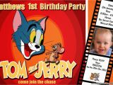 Tom and Jerry Birthday Invitations tom and Jerry Birthday Invitations Free Invitation