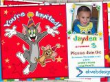 Tom and Jerry Birthday Invitations tom and Jerry Birthday Invitations