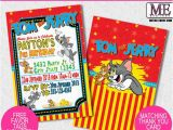 Tom and Jerry Birthday Invitations tom and Jerry Invitations tom Jerry Invitations