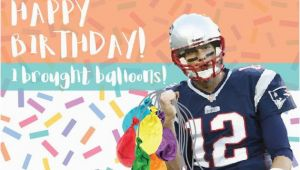 Tom Brady Birthday Card tom Brady Birthday Card Funny Deflate Gate Joke Card
