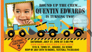 Tonka Truck Birthday Invitations tonka Truck Construction Birthday Invitation Di 331