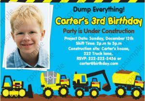 Tonka Truck Birthday Invitations 2nd Party