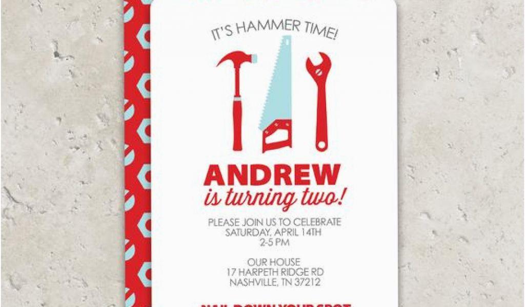 Tool Birthday Party Invitations Tools Fun