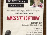 Top Secret Birthday Invitations top Secret Mission Birthday Party Invitations In Truffle