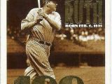 Topps Babe Ruth 100th Birthday Card 1995 topps 3 Babe Ruth 100th B Day Baseball Card for