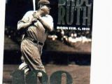 Topps Babe Ruth 100th Birthday Card 1995 topps Babe Ruth 100th Birthday New York Yaknees