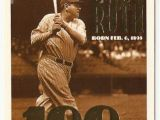 Topps Babe Ruth 100th Birthday Card 1995 topps George Herman Quot Babe Quot Ruth 100th Birthday 3