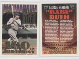 Topps Babe Ruth 100th Birthday Card 1995 topps Megacards Conlon Collection 3 2 Babe Ruth