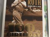 Topps Babe Ruth 100th Birthday Card Babe Ruth 100th Birthday Baseball Card Ebay