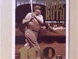 Topps Babe Ruth 100th Birthday Card Babe Ruth 100th Ebay