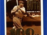 Topps Babe Ruth 100th Birthday Card Babe Ruth 1995 topps 3 Yankees Ex Mt 100th Birthday
