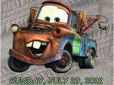 Tow Mater Birthday Invitations Cars tow Mater Invitation Personalized Birthday Digital