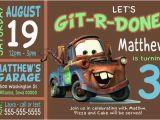 Tow Mater Birthday Invitations Custom tow Mater Birthday Party Invitation Print at Home