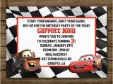 Tow Mater Birthday Invitations Customized Birthday Invitation Disney Cars Lightening