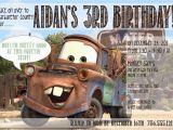 Tow Mater Birthday Invitations Disney 39 S Cars Mater Invitation 11 00 Via Etsy tow