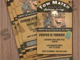 Tow Mater Birthday Invitations Items Similar to tow Mater Ticket Invitation On Etsy