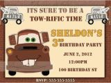 Tow Mater Birthday Invitations tow Mater Birthday Invitation Printable by