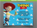 Toy Story Birthday Cards Disney toy Story Birthday Thank You Cards Jessie Instant