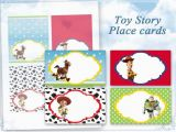 Toy Story Birthday Cards Items Similar to toy Story Place Cards Food Tents Table