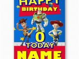 Toy Story Birthday Cards Personalised Name Photo or Age toy Story A5 Happy