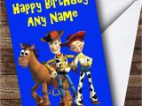 Toy Story Birthday Cards toy Story Woody Jessie Personalised Birthday Card the