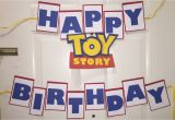 Toy Story Happy Birthday Banner toy Story Birthday Banners