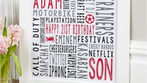 Traditional 21st Birthday Gifts for Him 21st Birthday Personalised Gifts for Him Chatterbox Walls