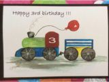 Train Birthday Card Printable Birthday Card Choo Choo Train Watercolor Card Print Item