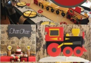 Train Decorations for Birthday Party A Choo Choo Train themed Boy 39 S 2nd Birthday Party