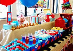 Train Decorations for Birthday Party Kara 39 S Party Ideas Train Boy themed Birthday Party