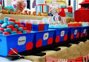 Train Decorations for Birthday Party Kara 39 S Party Ideas Train Boy themed Birthday Party
