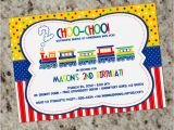 Train themed Birthday Invitations Colorful Train themed Party Invitations for Kids Free