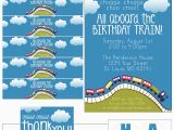 Train themed Birthday Invitations Train Birthday Party with Free Printables How to Nest