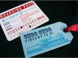 Train themed Birthday Invitations Train themed Birthday Invitations with Tag and Envelope