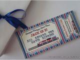 Train themed Birthday Invitations Train themed Birthday Party Invitation by Poshpaperpartiesco