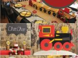 Train themed Birthday Party Decorations A Choo Choo Train themed Boy 39 S 2nd Birthday Party