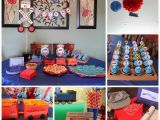 Train themed Birthday Party Decorations A Wide Line Diy Train themed Birthday Party