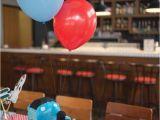 Train themed Birthday Party Decorations Kara 39 S Party Ideas Thomas the Train themed Birthday Party