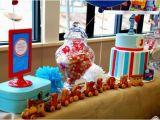 Train themed Birthday Party Decorations Kara 39 S Party Ideas Train Boy themed Birthday Party
