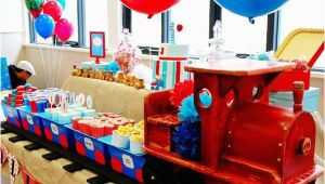 Train themed Birthday Party Decorations Kara 39 S Party Ideas Train Boy themed Birthday Party